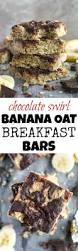 Oatmeal Bars With Chocolate Topping Chocolate Swirl Banana Oat Breakfast Bars Running With Spoons