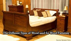 The Different Types Of Wood Used For Wood Furniture - Bedroom furniture types