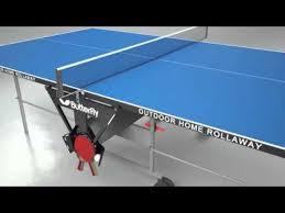 butterfly outdoor rollaway table tennis butterfly outdoor home rollaway table tennis table youtube