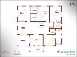 kerala bhk single floor house plan and elevation ideas 3 bedroom