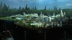 disney unveils large scale model of u0027star wars u0027 themed lands for