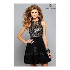 black and gold dress sequined prom dress faviana style 7660 faviana