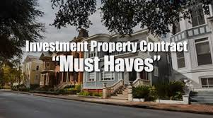 investment property contract must haves savannah real estate lawyer