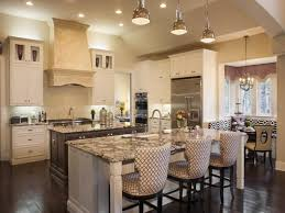 kitchen with large island large kitchen island with seating silver refrigerator gray painted