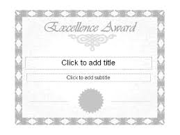 excellence award certificate free certificate templates in