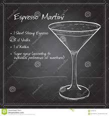 martini coffee cocktail espresso martini stock vector image 62669182