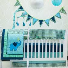 10 Piece Nursery Bedding Sets by Pam Grace Creations Zigzag Elephant 10 Piece Crib Bedding Set