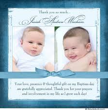 sweet baby baptism photo thank you card blue boy