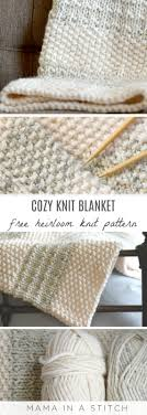 easy heirloom knit blanket pattern in a stitch