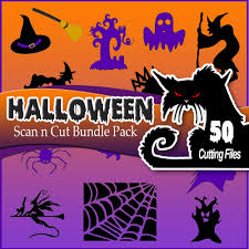 Halloween Graphic by Brother Scan N Cut U2013 Halloween Bundle Pack 50 Cutting Files