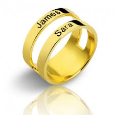 Name Ring Gold Personalized Name Rings Name Engraved Rings