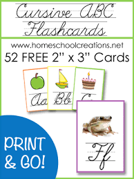 cursive abc flashcards and posters free printables cursive