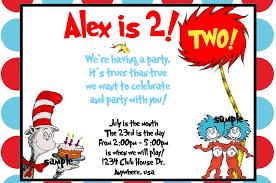 A Birthday Invitation Card Dr Seuss Birthday Invitations Kawaiitheo Com