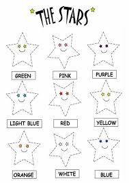 color the stars worksheets printable coloring worksheets