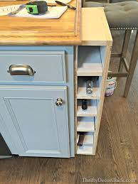 the new kitchen island a start from thrifty decor