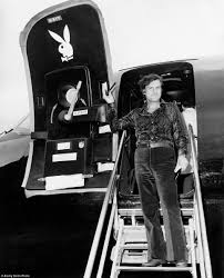 inside hugh hefner u0027s private playboy jet the big bunny back in the