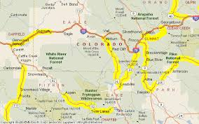 aspen map motorcycle colorado passes and canyons aspen area