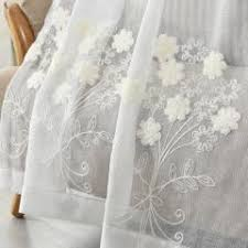 Linen Voile Curtain Fabric Byetee Cotton And Linen White Embroidered Voile Pastoral