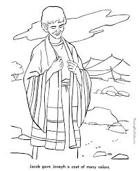 jacob bible story coloring free coloring joseph coat