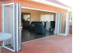 Glass Patio Door Exterior Folding Glass Patio Doors Add More Light To Your House