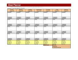 menu planners templates weekly meal planner template