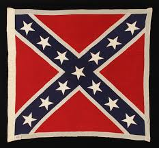 Flag Red With White Cross Jeff Bridgman Antique Flags And Painted Furniture Confederate