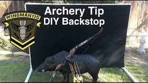 archery tip diy backstop youtube