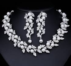 jewelry necklace pearl set images Silver or gold pearl set siumalu jpg
