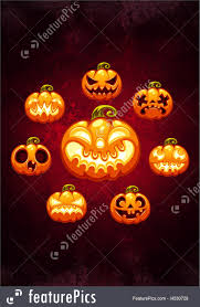 halloween red background halloween halloween cartoon pumpkins card stock illustration