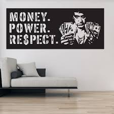 film tv movie quotes wall stickers iconwallstickers co uk money power respect scarface crime thriller tv movie wall stickers home decals