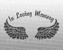in loving memory items in loving memory svg etsy