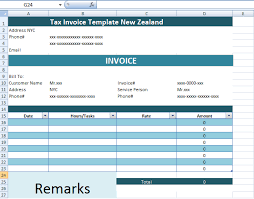 tax invoice template new zealand xls microsoft excel templates