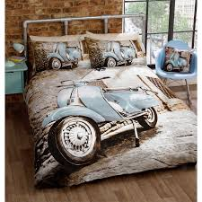 cool retro mod scooter duvet cover photo print bedding set for