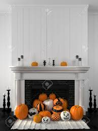 beautiful white fireplace in the classic style against a white