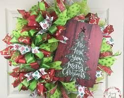 Outdoor Christmas Decorations For Sale Ontario by Outdoor Wreath Etsy