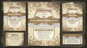 jar wedding invitations rustic jar wedding invitation with lace elite wedding looks