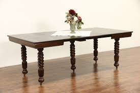 sold oak 1900 antique square dining table 4 leaves 5 spiral