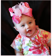 baby hair bows abby s bowtique satin organza headband bows