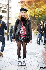 leather biker style boots listen flavor style w biker jacket skulls u0026 heart tights in harajuku