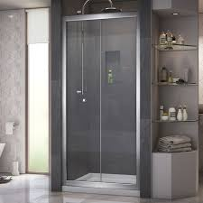 Small Shower Door Dreamline Butterfly 34 35 1 2 In Width Frameless Bi Fold Shower