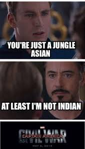 Indian Meme Generator - meme creator you re just a jungle asian at least i m not indian