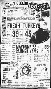 Thanksgiving Dinner In Tucson 31 Thanksgiving Grocery Ads From Tucson U0027s Past News About Tucson