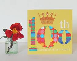 100th Birthday Card 100th Birthday Card Etsy
