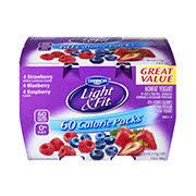 dannon light and fit nutrition dannon light fit 50 calorie packs assorted nonfat strawberry