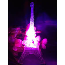 eiffel tower decorations centerpieces led eiffel tower light up statue multi color changing