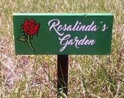Personalized Garden Decor with Custom Garden Sign Personalized Garden Sign Weatherproof