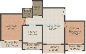 1300 sq ft apartment floor plan 3 bhk 1300 sq ft apartment for sale in tharwani meghna montana