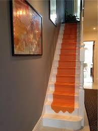 charlotte u0027s locks orange paint color on stairs by farrow u0026 ball