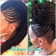 black braids hairstyle for sixty gorgeous embracebraids http www blackhairinformation com