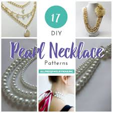 necklace patterns images 17 diy pearl necklace patterns png
